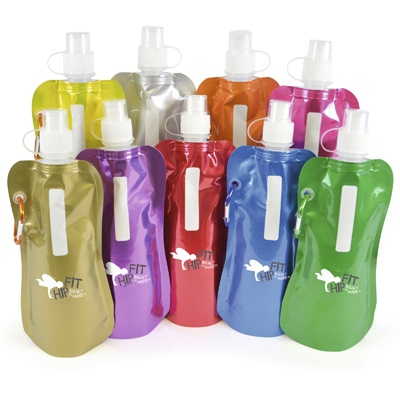 Metallic fold up Bottle